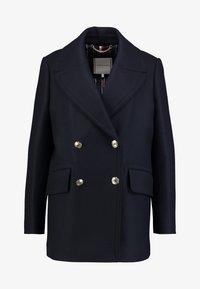 Tommy Hilfiger - ESSENTIAL BLEND PEACOAT - Classic coat - blue - 4