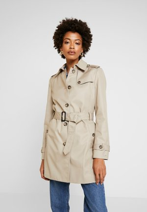 HERITAGE SINGLE BREASTED TRENCH - Trenčkot - medium taupe