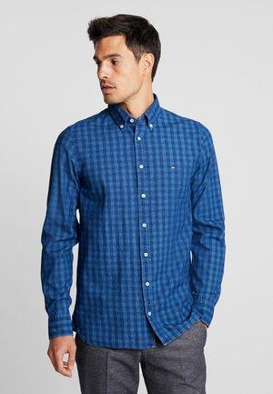 SLIM FIT INDIGO TONAL CHECK - Koszula - blue