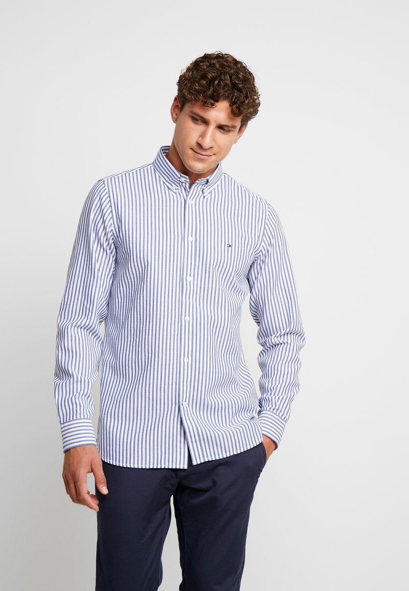 Tommy Hilfiger - SLIM TEXTURED  - Skjorta - blue