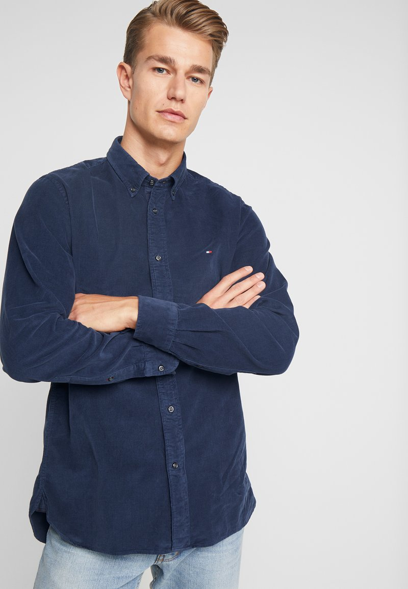 Tommy Hilfiger - GARMENT DYED - Koszula - blue