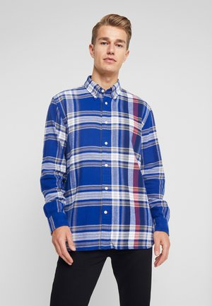 RELAXED BLOWN UP CHECK - Chemise - blue