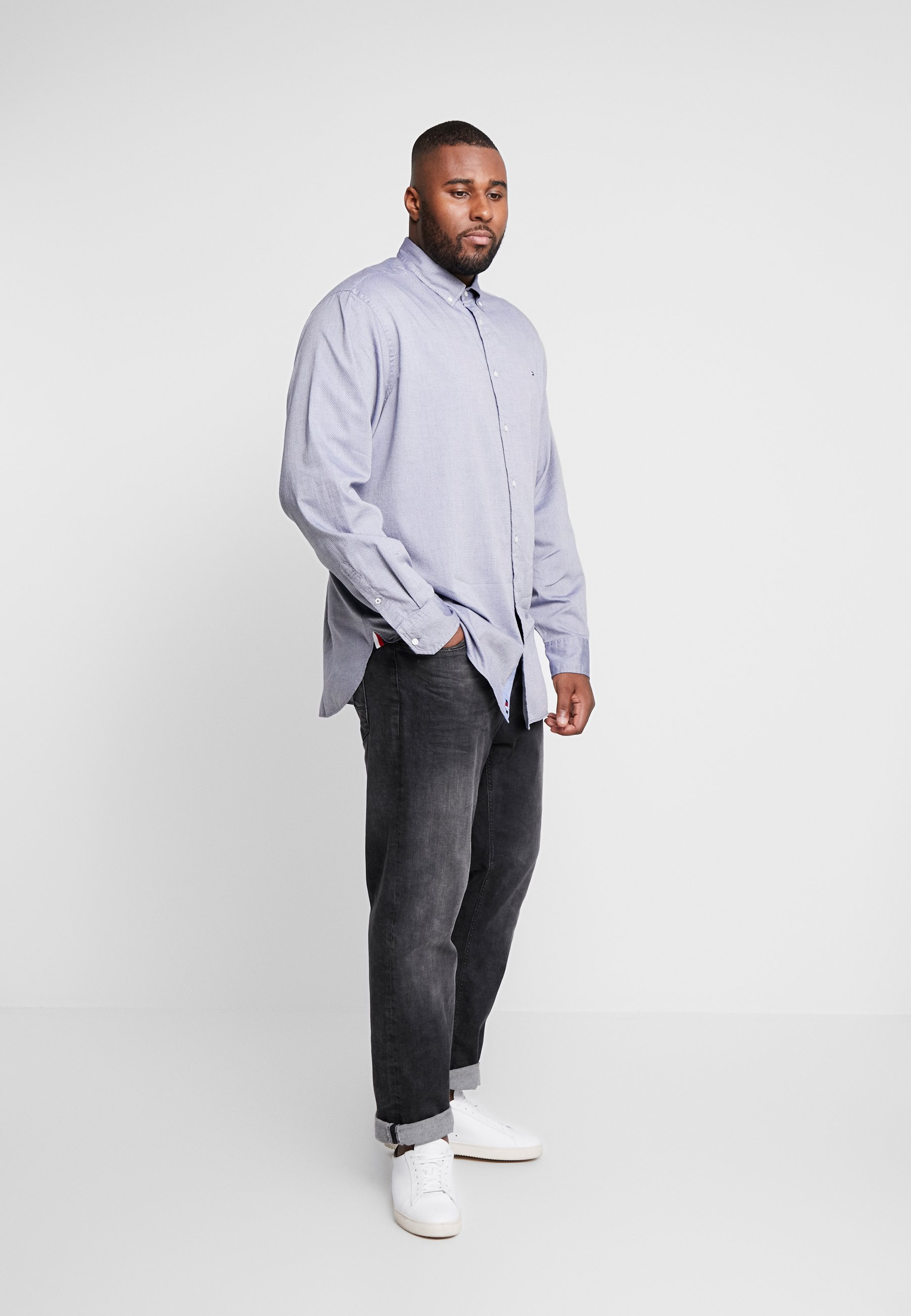 Tommy Hilfiger Flex Dobby Shirt Regular Fit - Skjorta Blue