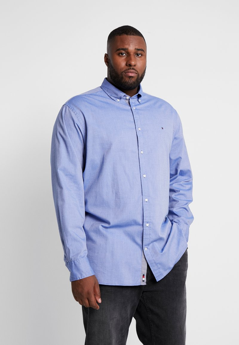 Tommy Hilfiger - FLEX DOBBY SHIRT REGULAR FIT - Košile - blue