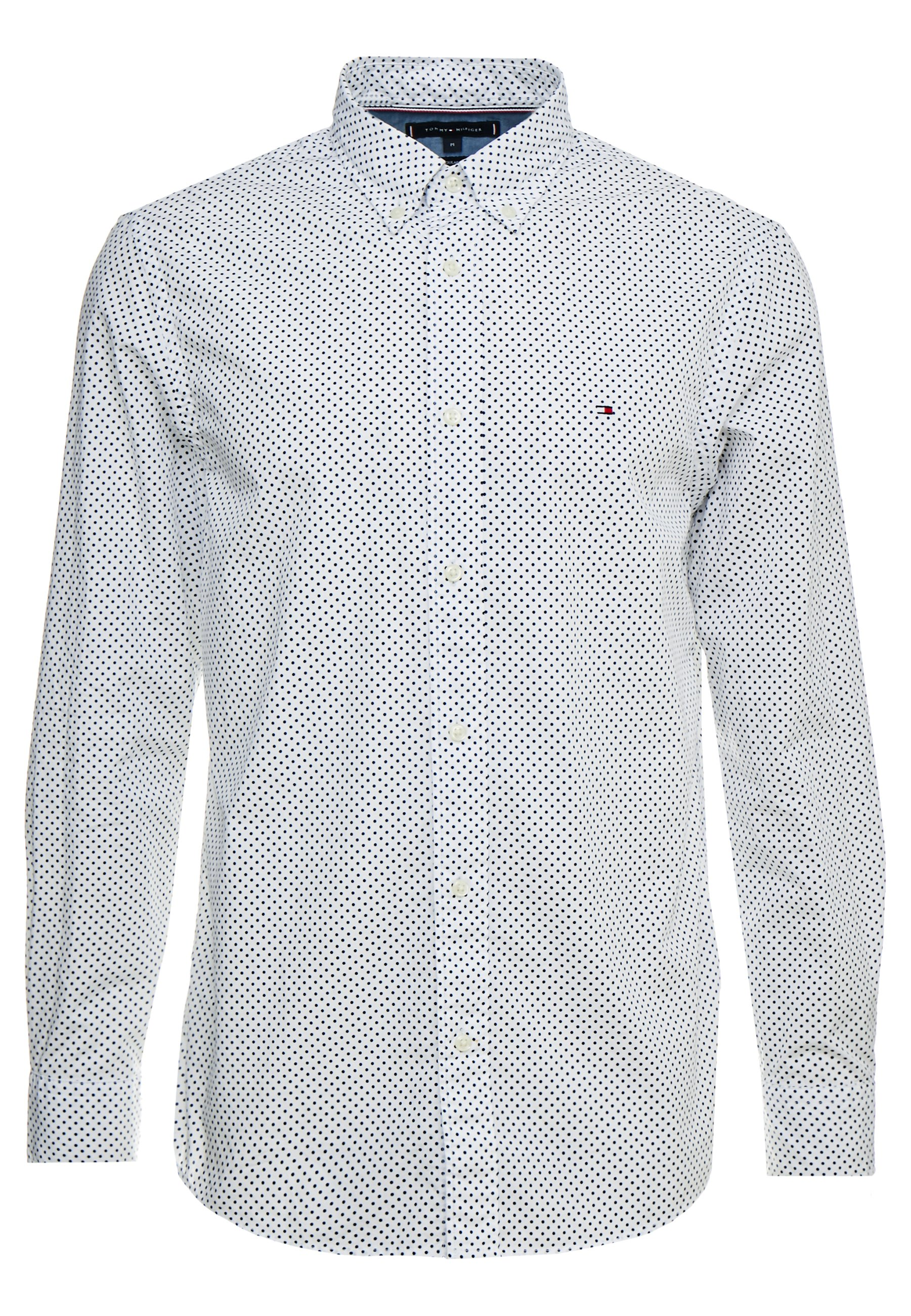 Tommy Hilfiger Dot Regular Fit - Skjorta White