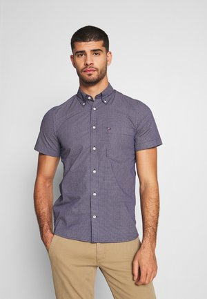 SLIM SMALL DOT PRINT - Shirt - blue
