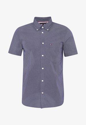 SLIM SMALL DOT PRINT - Košile - blue
