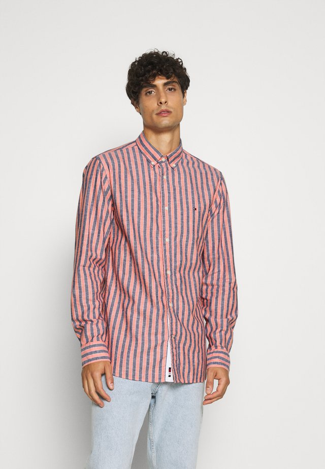 Camisa - washed vermillion/carbon navy/white