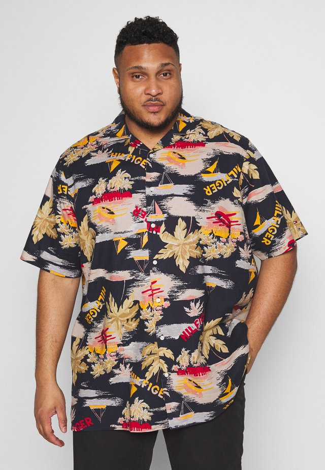 HAWAIIAN PRINT SHIRT - Overhemd - blue