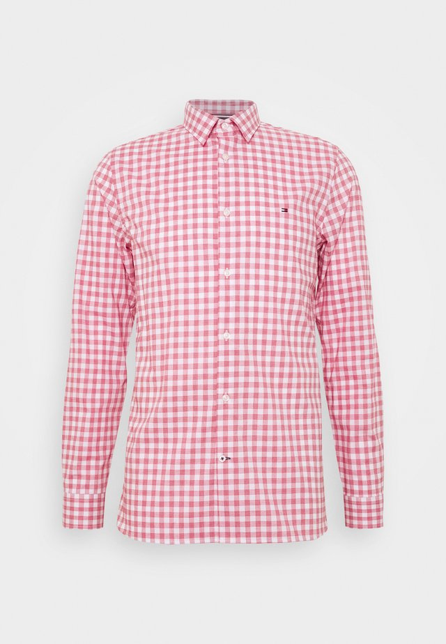 SLIM FLEX HTOOTH GINGHAM SHIRT - Shirt - pink