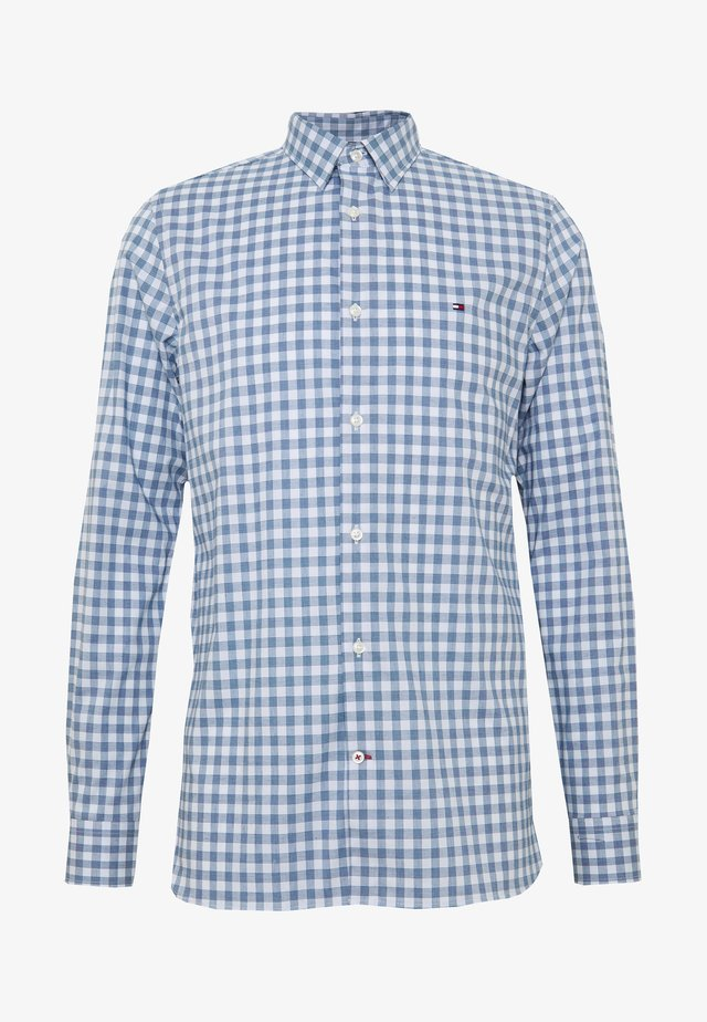 SLIM FLEX HTOOTH GINGHAM SHIRT - Shirt - blue