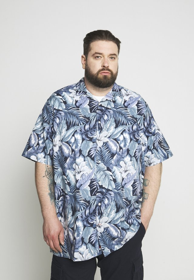 HAWAIIAN PRINT - Shirt - blue