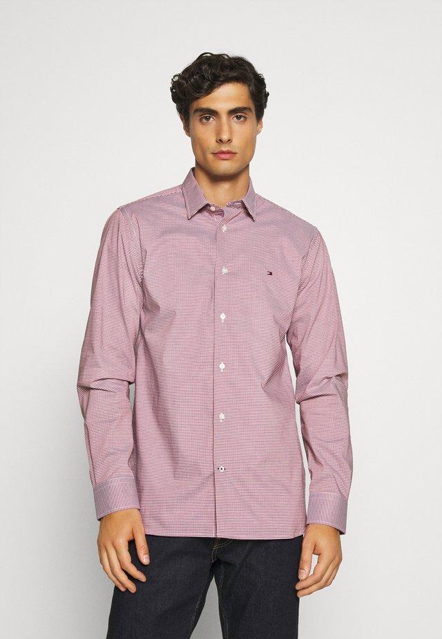 FLEX MINI GINGHAM - Shirt - bright vermillion/blue ink/white