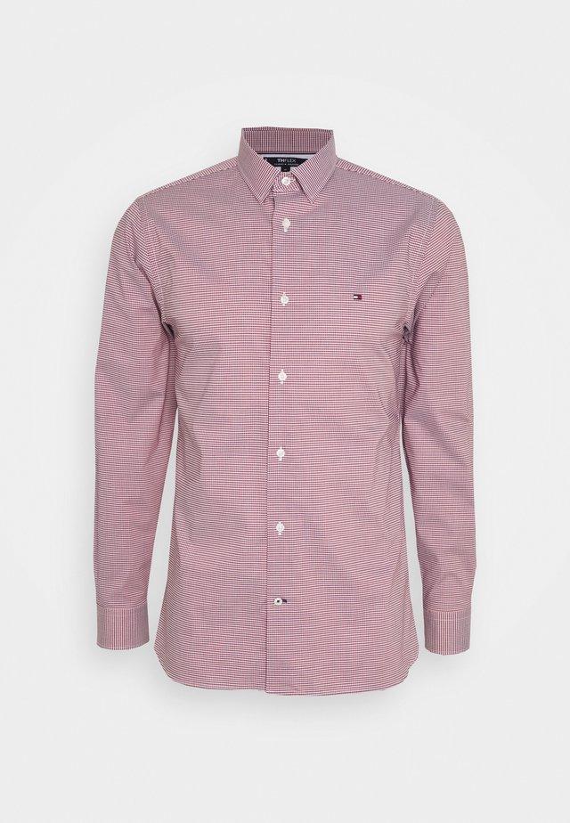 FLEX MINI GINGHAM - Camisa - bright vermillion/blue ink/white