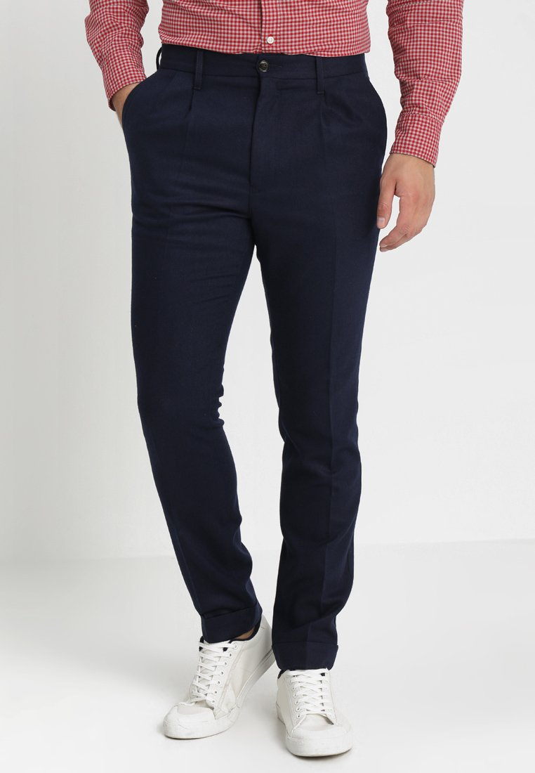 Tommy Hilfiger - TAPERED CROPPED PANT - Trousers - blue