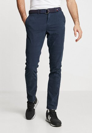DENTON BELT - Pantalones chinos - blue