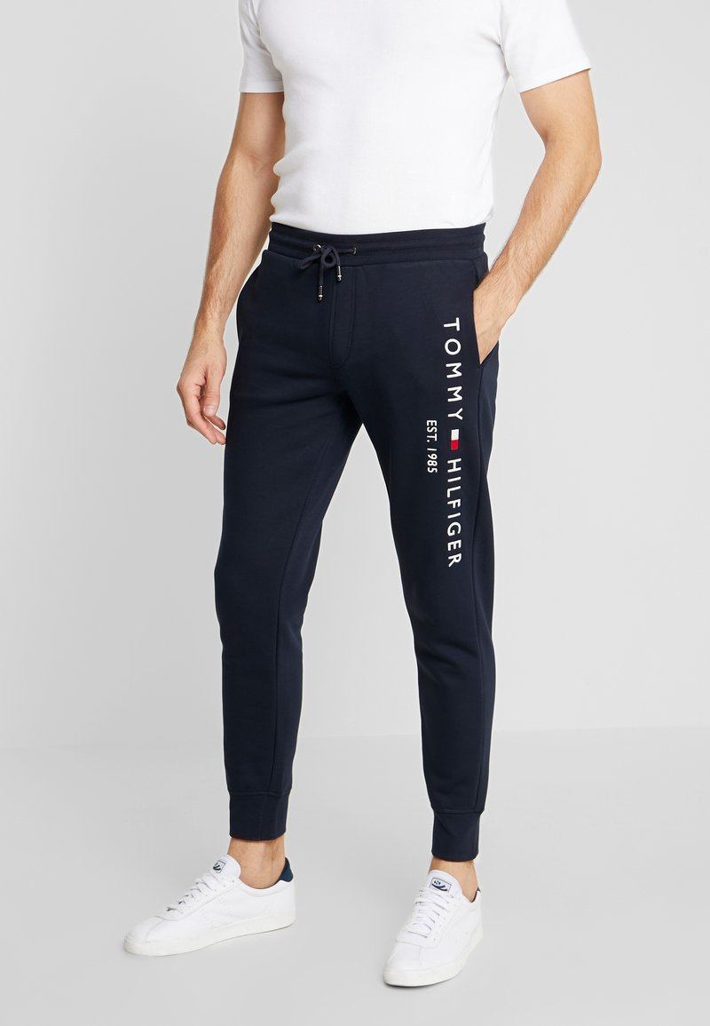 Tommy Hilfiger - BASIC BRANDED  - Tracksuit bottoms - blue