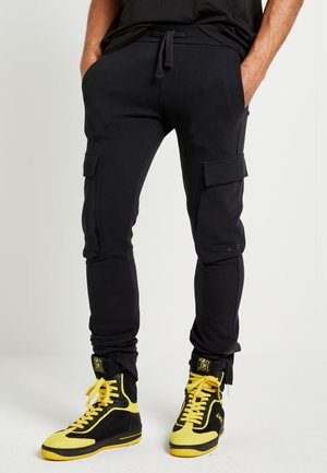 LEWIS HAMILTON CARGO SWEATPANTS - Pantalon de survêtement - black