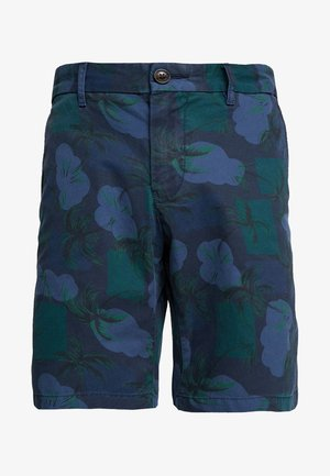 BROOKLYN PALM - Shorts - blue