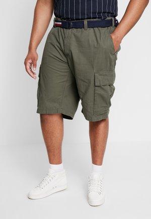 JOHN BELT - Cargo trousers - green