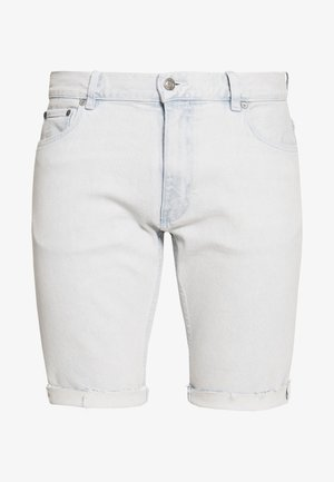 LEWIS HAMILTON SLIM BLEACH WASH DENIM SHORT - Jeans Shorts - light-blue denim