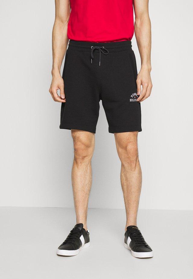 BASIC EMBROIDERED  - Shorts - black