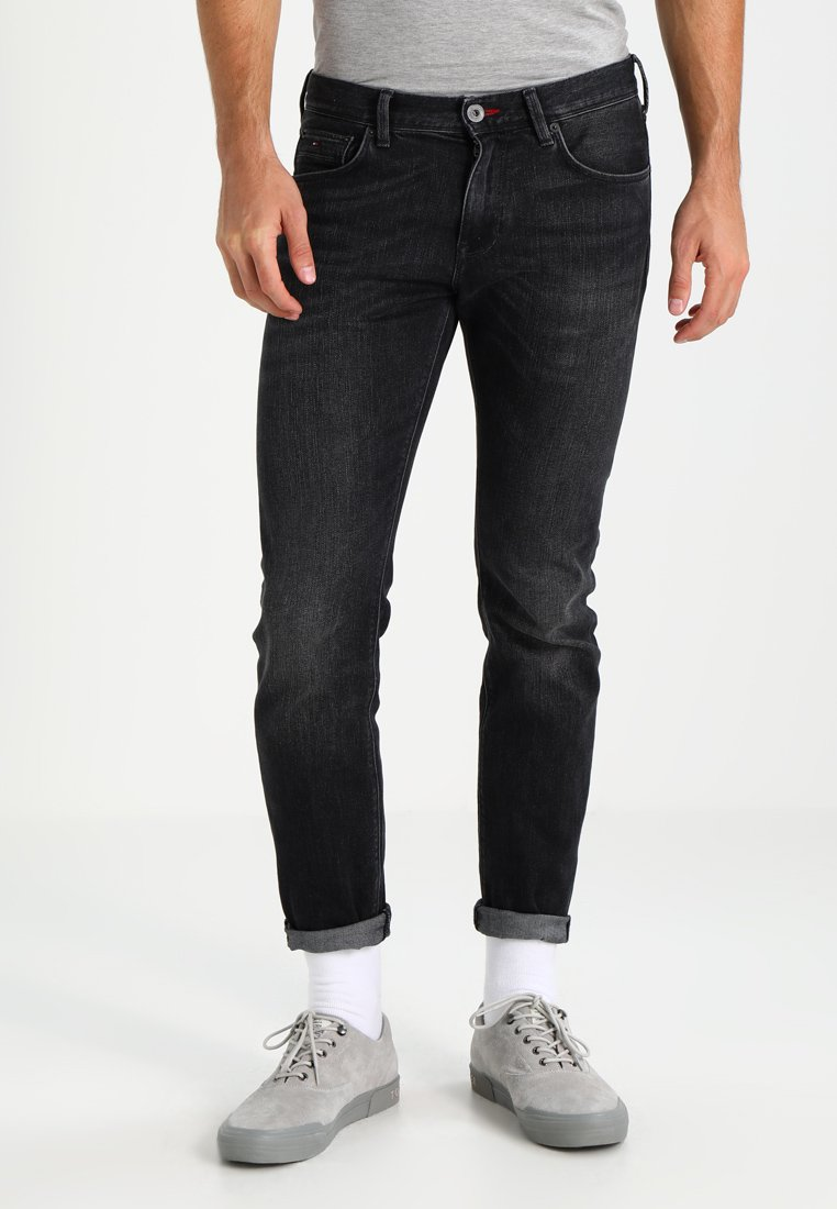 Tommy Hilfiger - BLEECKER - Straight leg jeans - washed black