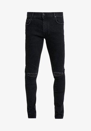 LEWIS HAMILTON BLACK DENIM - Slim fit jeans - denim