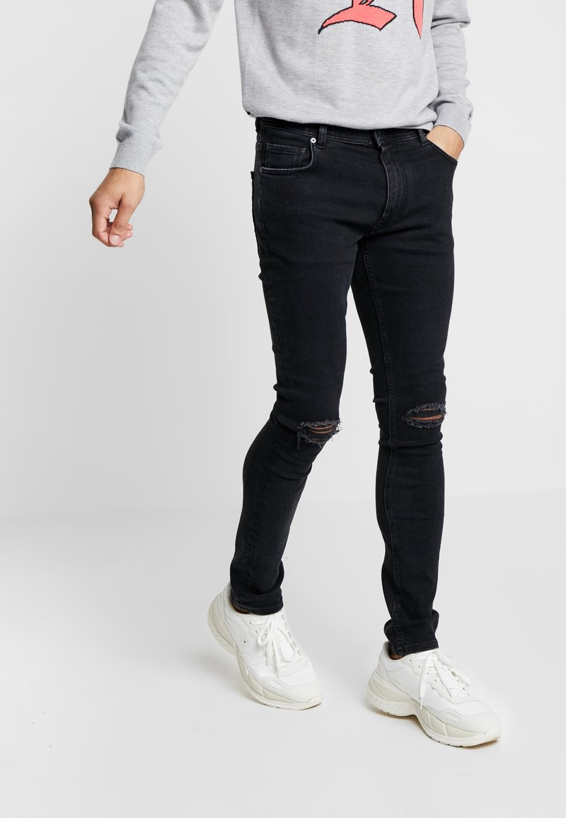 Tommy Hilfiger - LEWIS HAMILTON BLACK DENIM - Jeans Slim Fit - denim