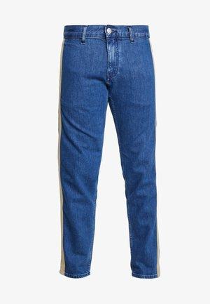 LEWIS HAMILTON SIDE STRIPE - Straight leg jeans - denim