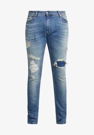 LEWIS HAMILTON RIP AND REPAIR  - Jeans slim fit - denim