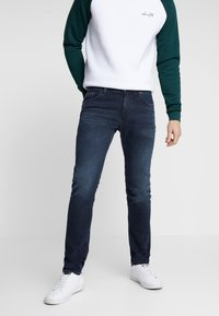 Tommy Hilfiger - EXTRA SLIM LAYTON BURKE BLUE - Jeansy Slim Fit - dark-blue denim - 0