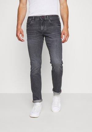 STRAIGHT DENTON AGAR - Straight leg jeans - black denim