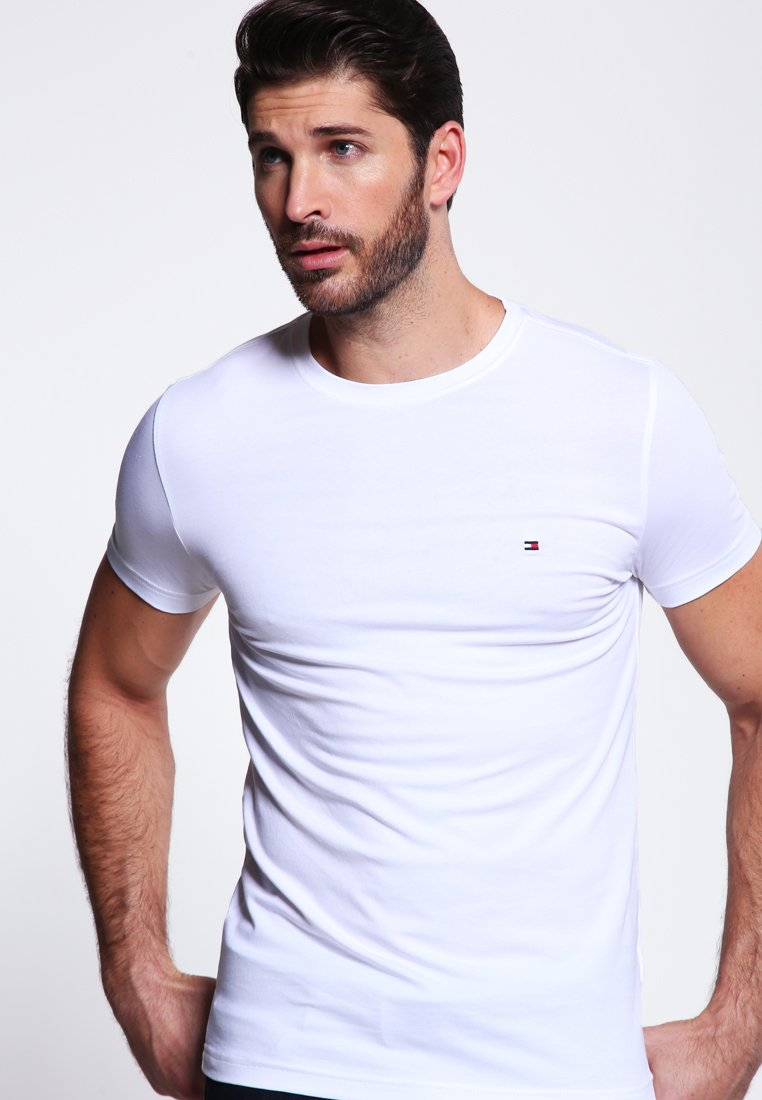 Tommy Hilfiger - NEW STRETCH TEE C-NECK - T-shirt basic - classic white