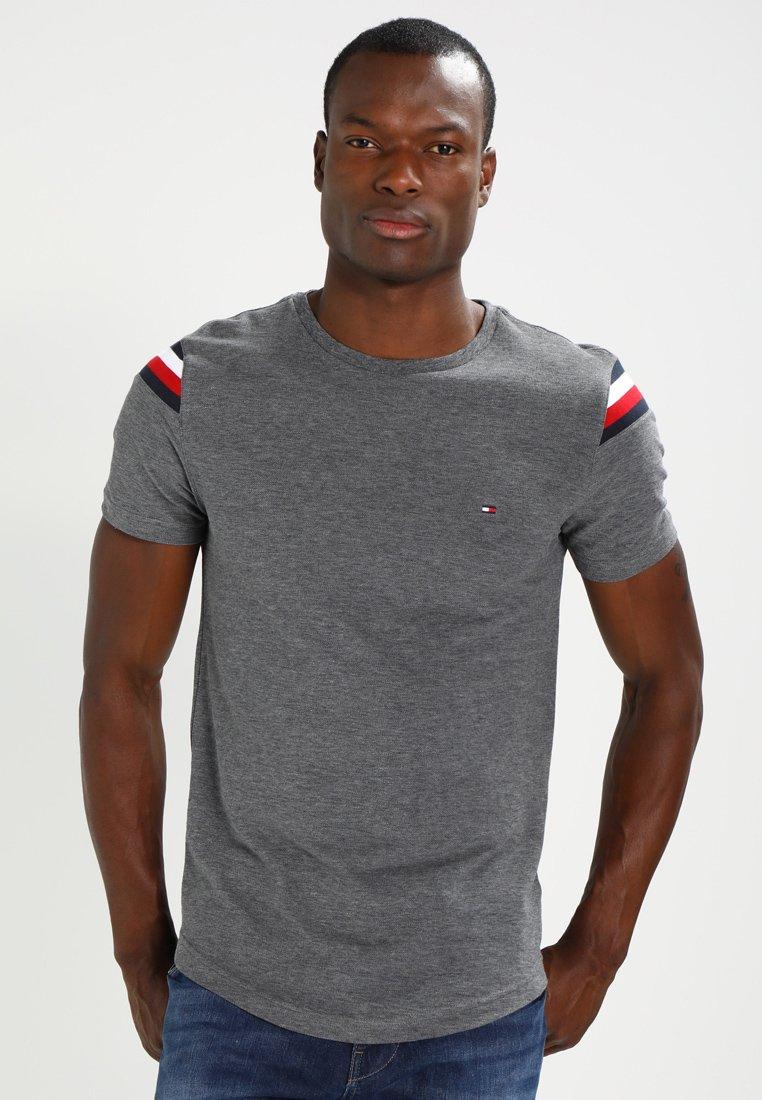 Tommy Hilfiger DONNY CREW NECK - T-shirt z nadrukiem - silver