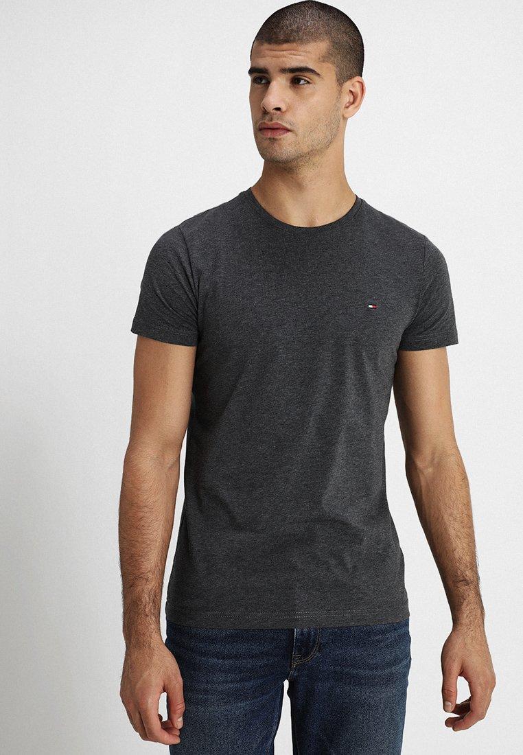 Tommy Hilfiger - STRETCHT TEE - T-shirt basic - grey