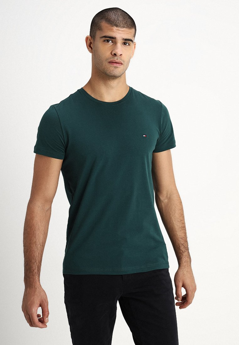 Tommy Hilfiger - STRETCHT TEE - T-Shirt basic - green