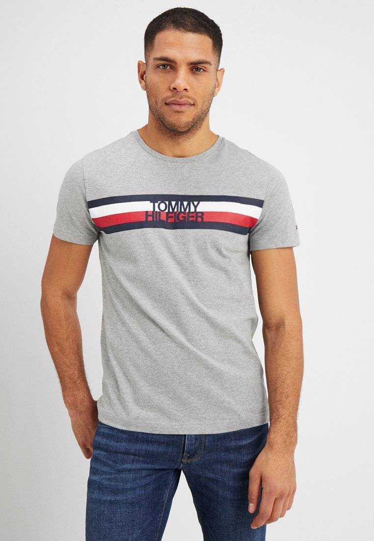 Tommy Hilfiger - LOGO TEE - T-shirt con stampa - grey