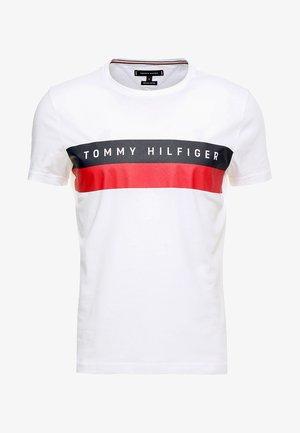LOGO BAND TEE - T-shirt print - white