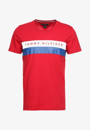 LOGO BAND TEE - T-shirt con stampa - red