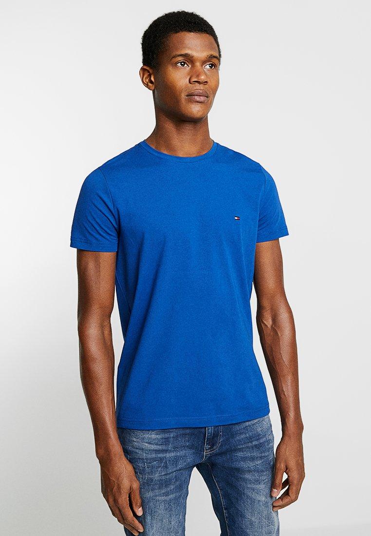 Tommy Hilfiger - SLIM FIT TEE - Print T-shirt - blue