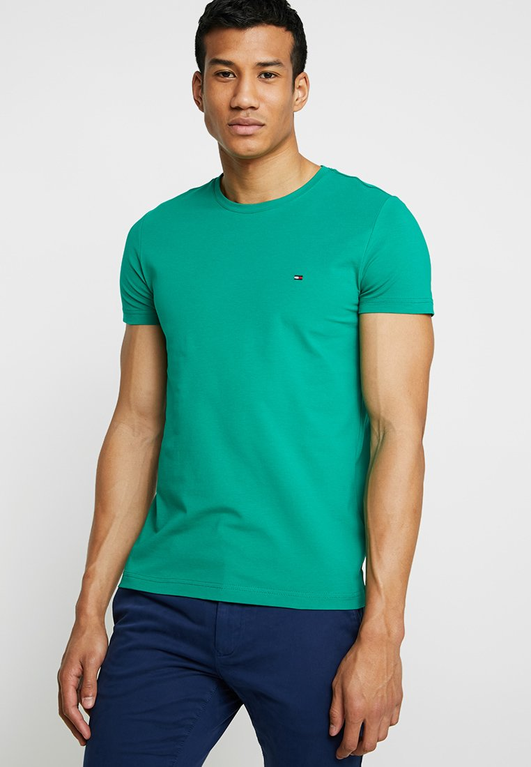 Tommy Hilfiger - SLIM FIT TEE - T-Shirt print - green