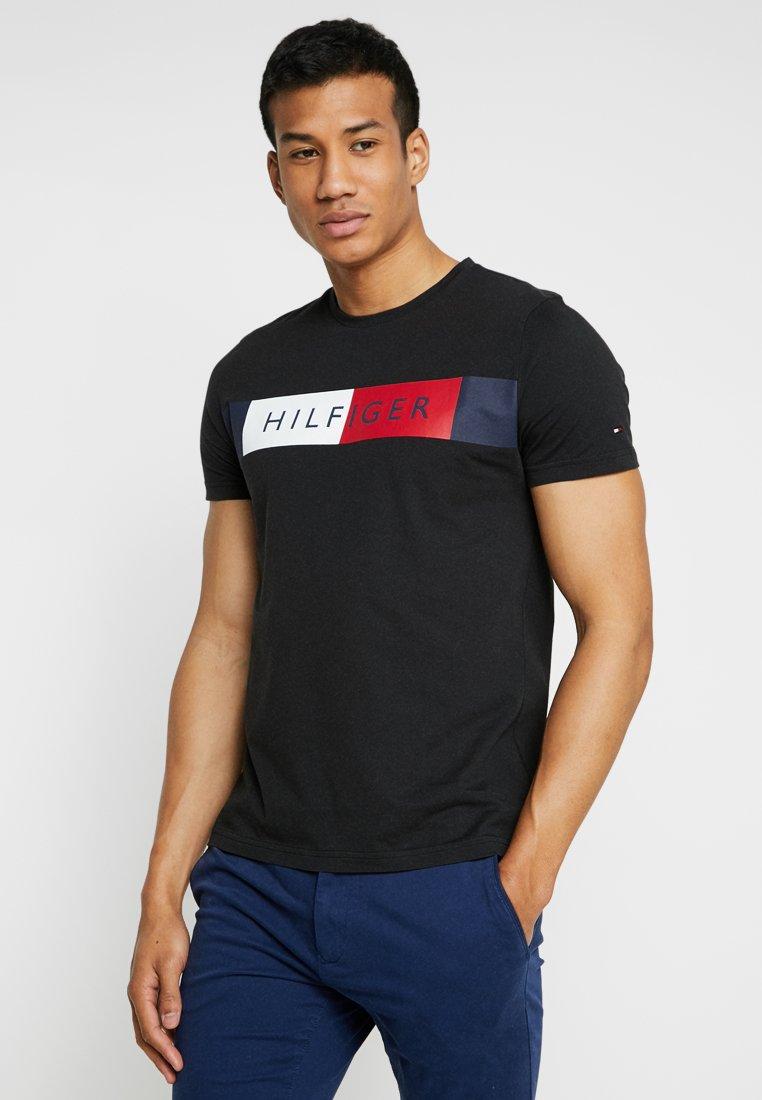 Tommy Hilfiger - STRIPE TEE - T-shirt imprimé - black