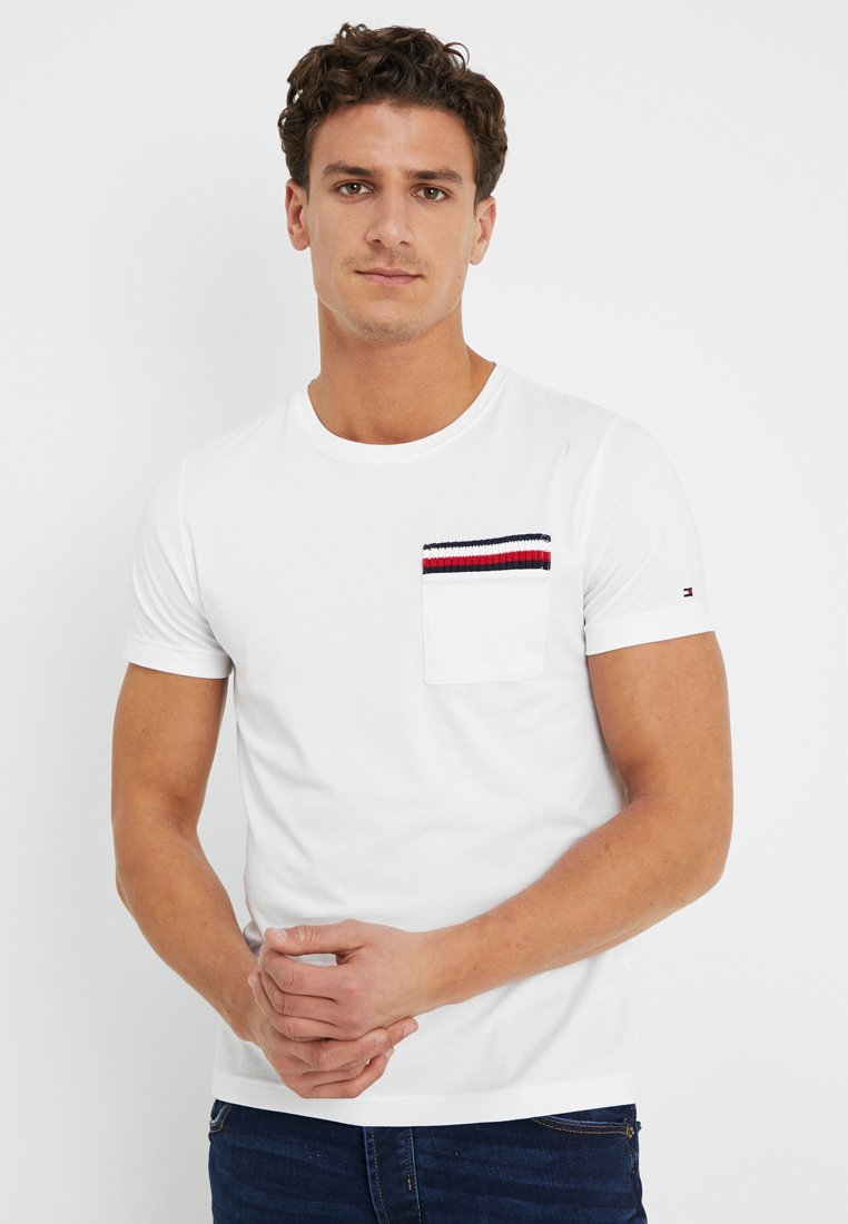 Tommy Hilfiger - CORP POCKET TEE - T-Shirt print - white