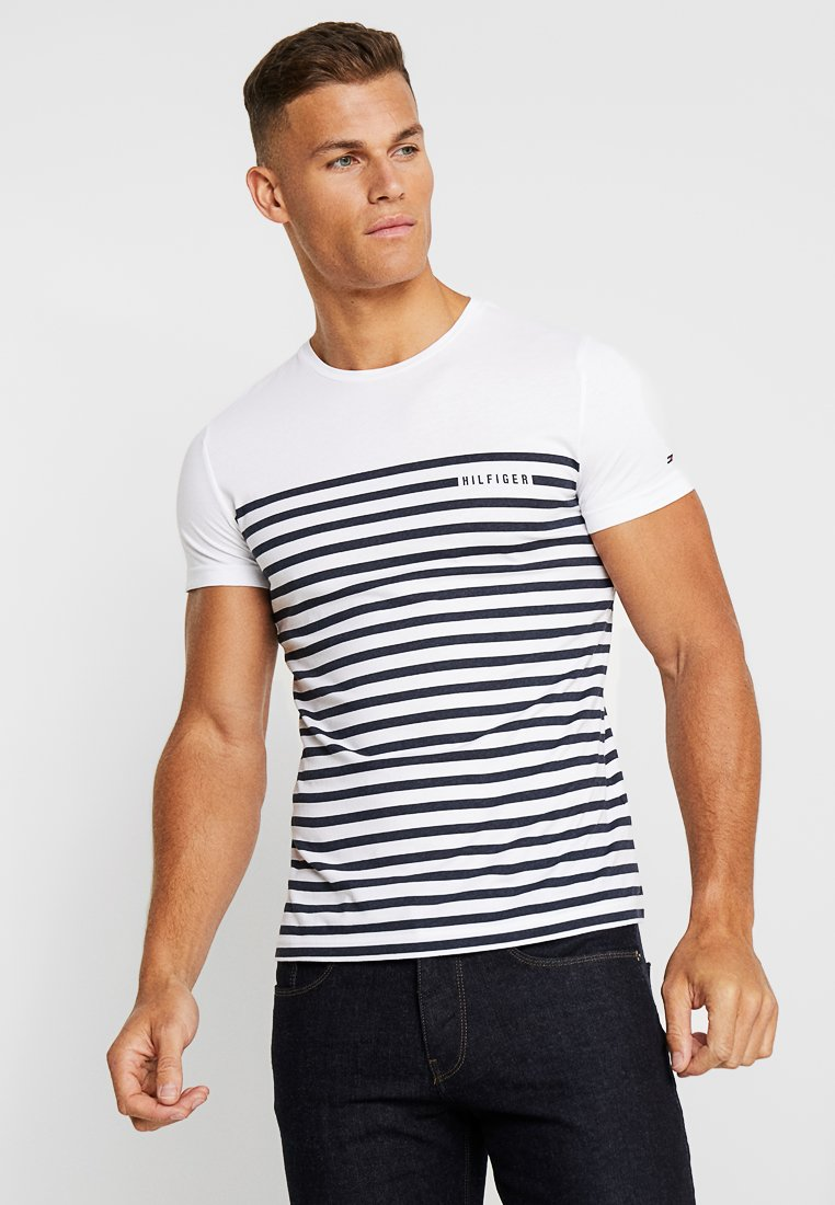 Tommy Hilfiger - BRETON TEE - T-shirt print - white