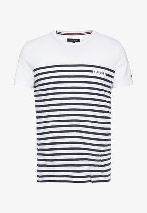 BRETON TEE - T-shirt med print - white