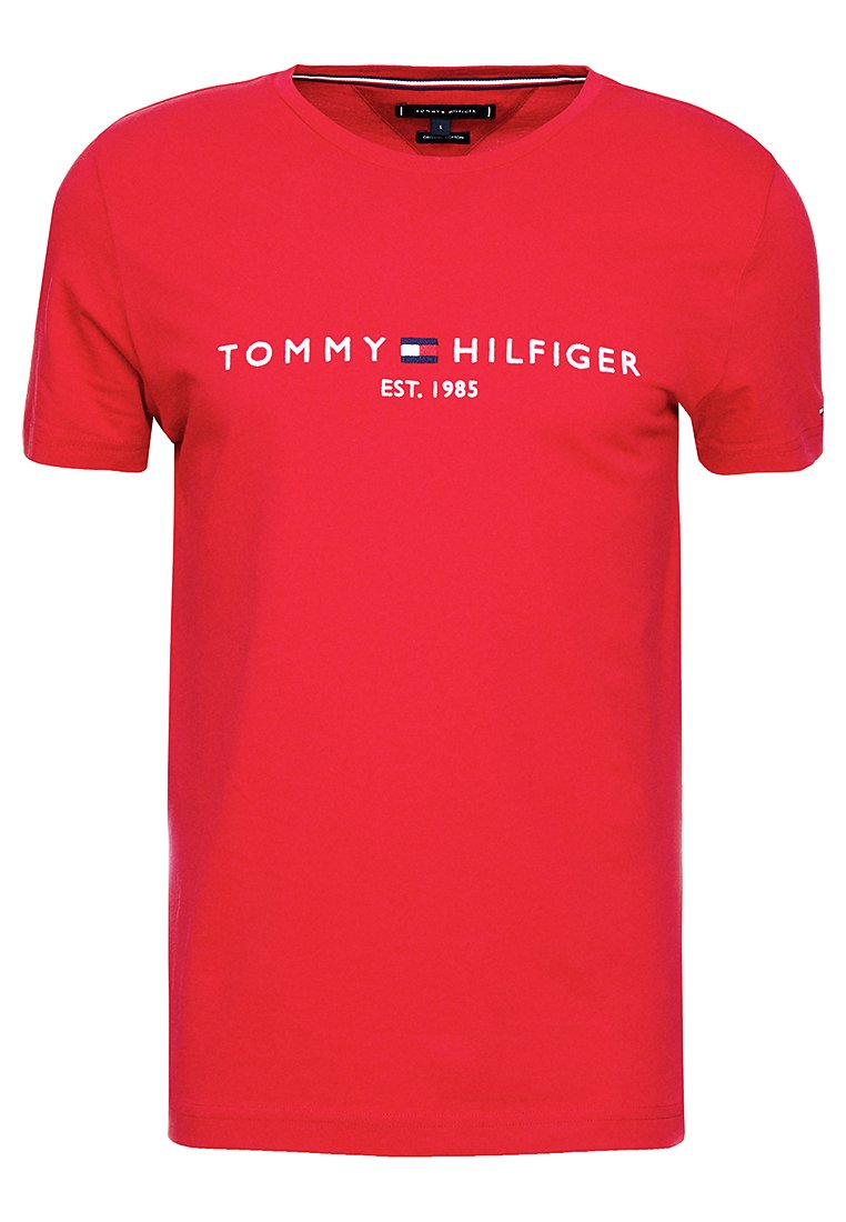 Tommy Hilfiger - LOGO TEE - T-shirt print - red