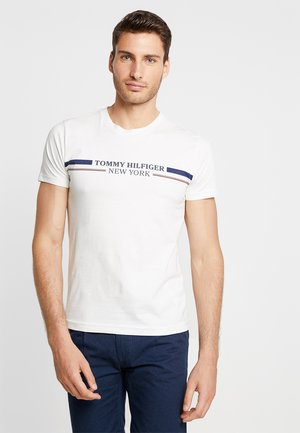 YACHT STRIPE TEE - T-shirts med print - white