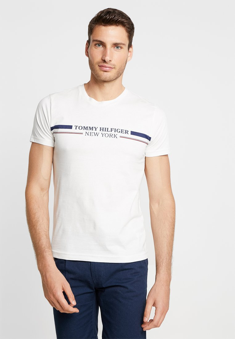 Tommy Hilfiger - YACHT STRIPE TEE - T-Shirt print - white