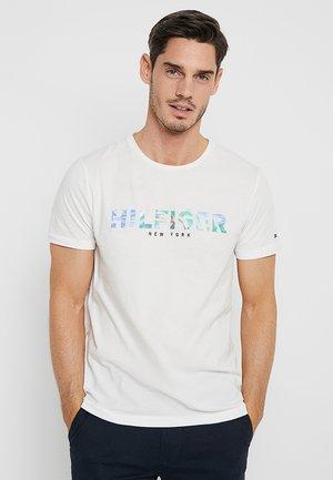 APPLIQUE TEE - Printtipaita - white
